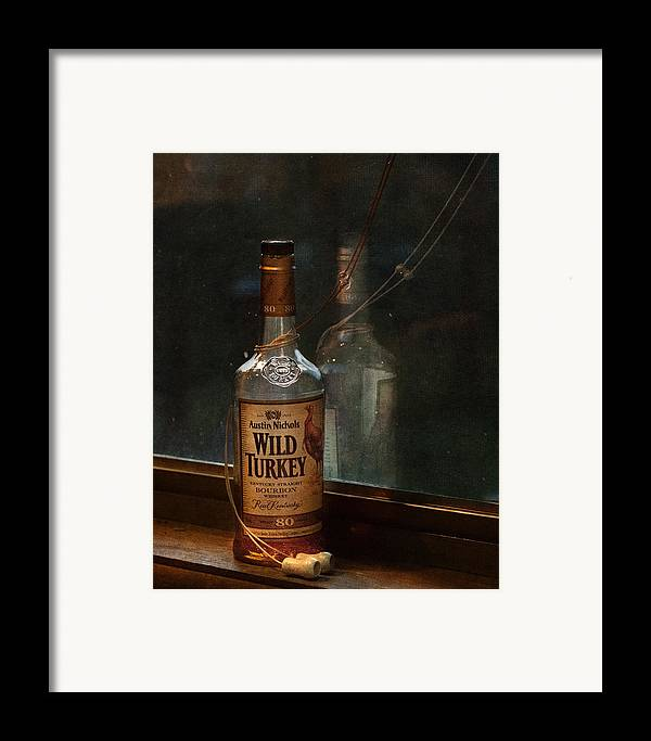 Liquor Framed Print featuring the photograph Wild Turkey In Window by Brenda Bryant