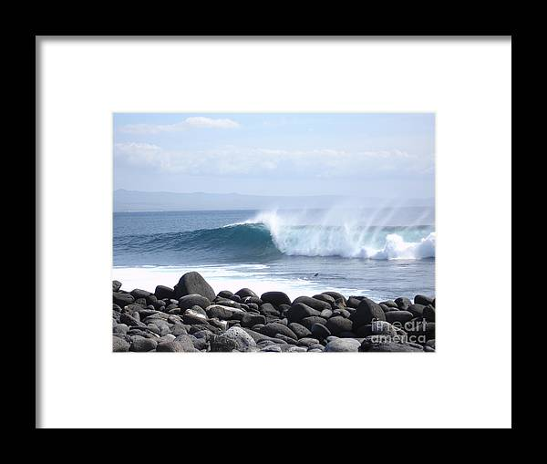 Landscape Framed Print featuring the photograph Wild Wave by Chad Natti