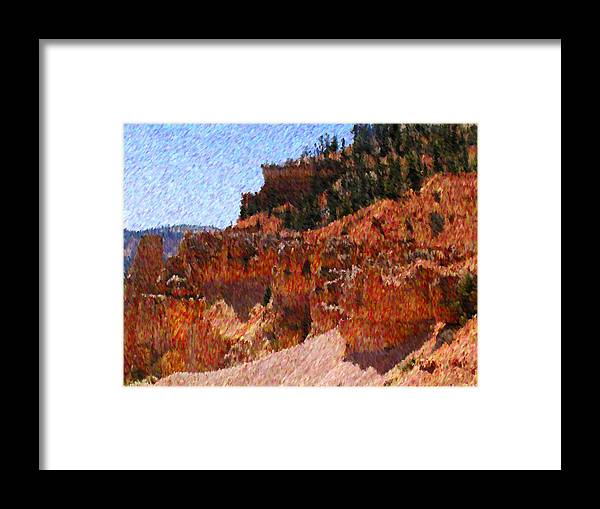 Utah Framed Print featuring the mixed media Wild West by John-Marc Grob