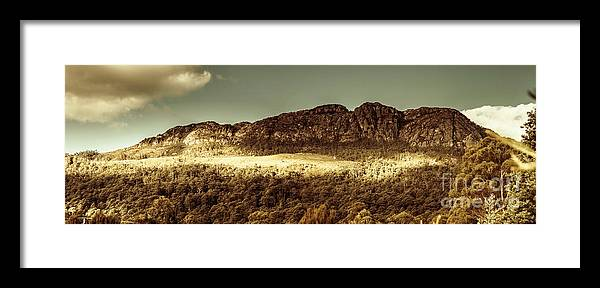 Panorama Framed Print featuring the photograph Wild West Mountain Panorama by Jorgo Photography - Wall Art Gallery