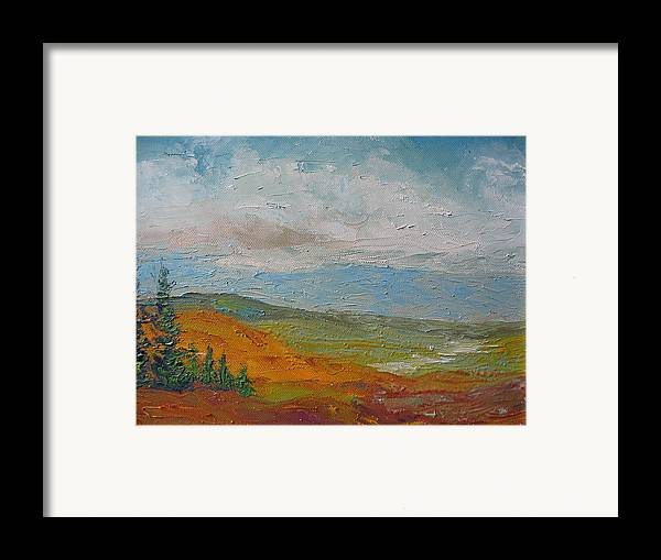 Landscape Framed Print featuring the painting Wilderness by Belinda Consten