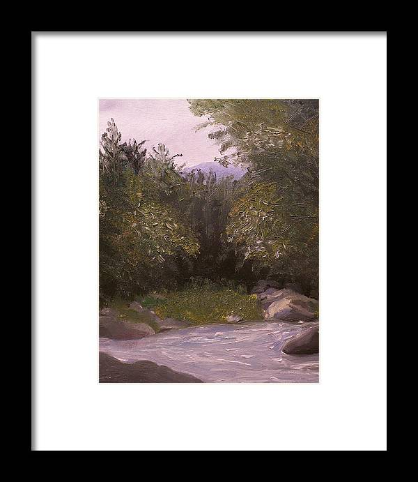 Landscape Framed Print featuring the painting Wilderness by Pamela Wilson