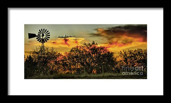 Fire Framed Print featuring the photograph Wildfire C-130 by Robert Frederick