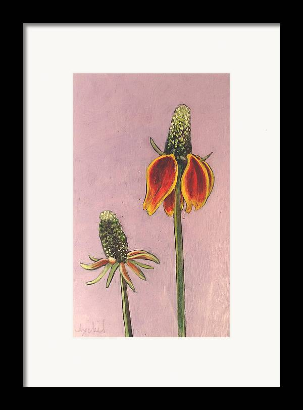 Flower Framed Print featuring the painting Wildflower 1 by Ixchel Amor