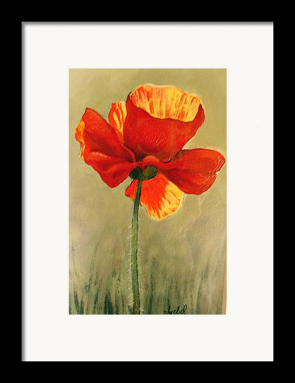 Flower Framed Print featuring the painting Wildflower 2 by Ixchel Amor