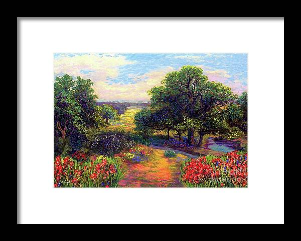 Wildflower Framed Print featuring the painting Wildflower Meadows Of Color And Joy by Jane Small