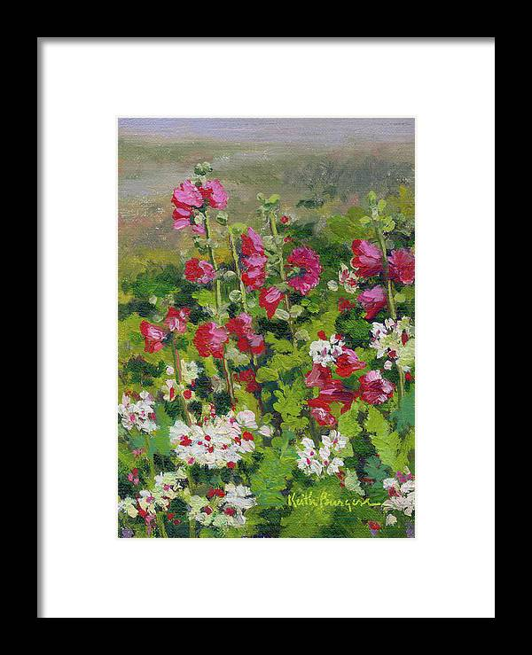 Impressionism Framed Print featuring the painting Wildflowers by Keith Burgess