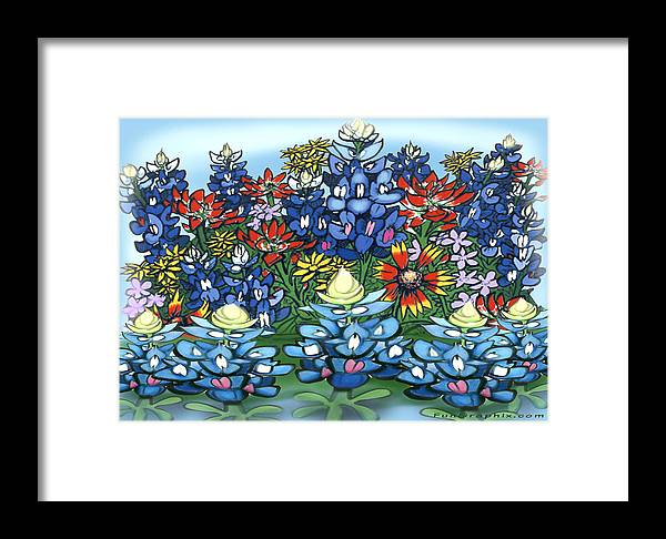 Wildflowers Framed Print featuring the digital art Wildflowers by Kevin Middleton