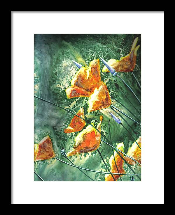 Wildflowers Framed Print featuring the painting Wildflowers by Marsha Elliott