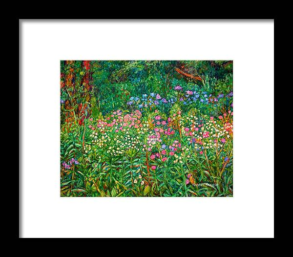 Floral Framed Print featuring the painting Wildflowers Near Fancy Gap by Kendall Kessler