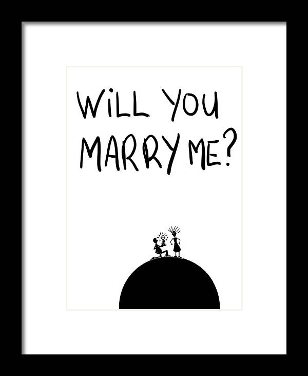 Will You Marry Me Framed Print By Michael Monroe