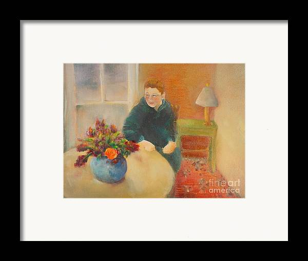 Portrait Framed Print featuring the painting William  Copyrighted by Kathleen Hoekstra