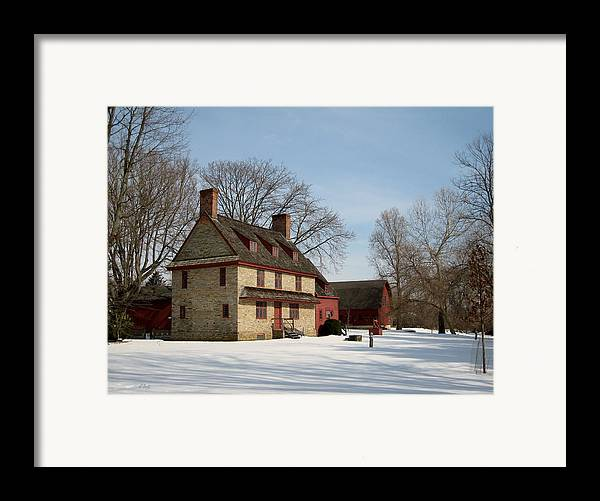 William Framed Print featuring the photograph William Brinton House, 1704 by Gordon Beck
