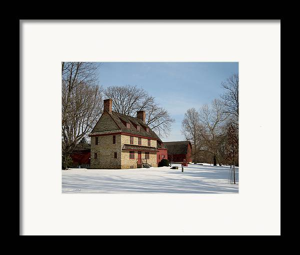 William Framed Print featuring the photograph William Brinton House 1704 by Gordon Beck