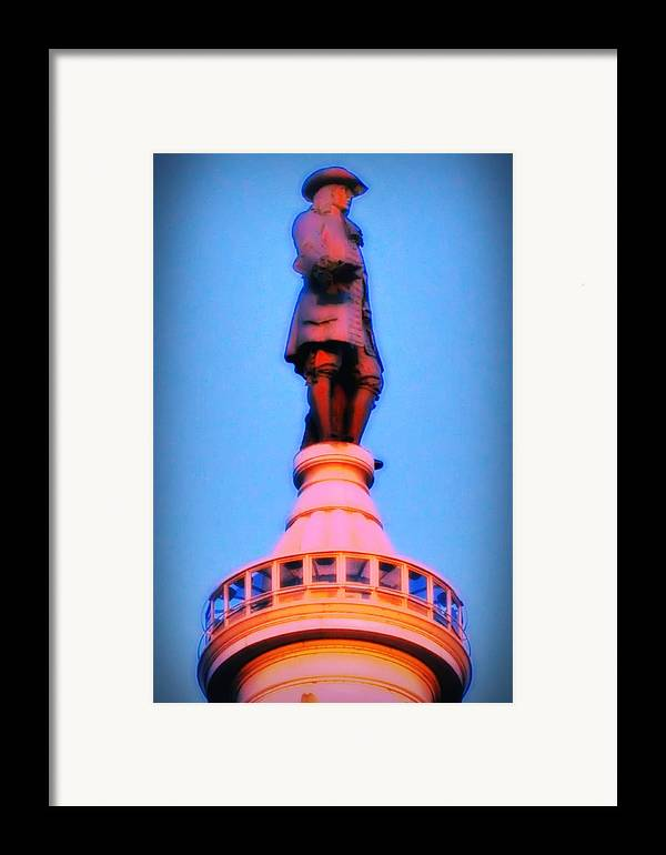 William Penn Framed Print featuring the photograph William Penn - City Hall In Philadelphia by Bill Cannon