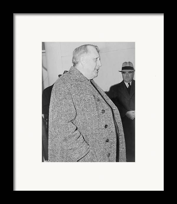 History Framed Print featuring the photograph William Randolph Hearst, Sr. 1863-1951 by Everett