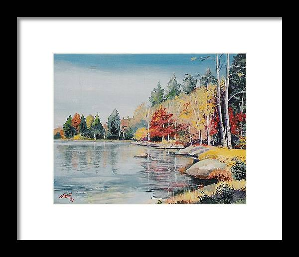 Landscape Framed Print featuring the painting Williams Lake by Barry Smith