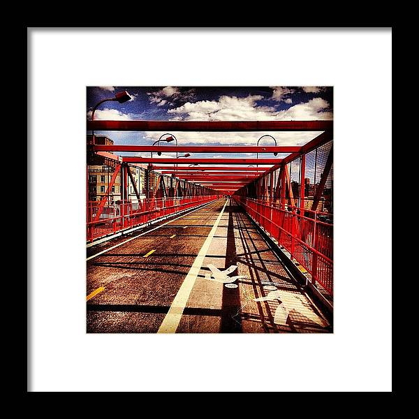 New York City Framed Print featuring the photograph Williamsburg Bridge - New York City by Vivienne Gucwa