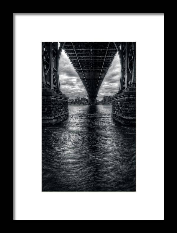 Landscape Framed Print featuring the photograph Williamsburg Span by Mike Deutsch