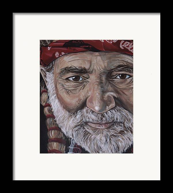 Portrait Framed Print featuring the painting Willie by Diann Baggett