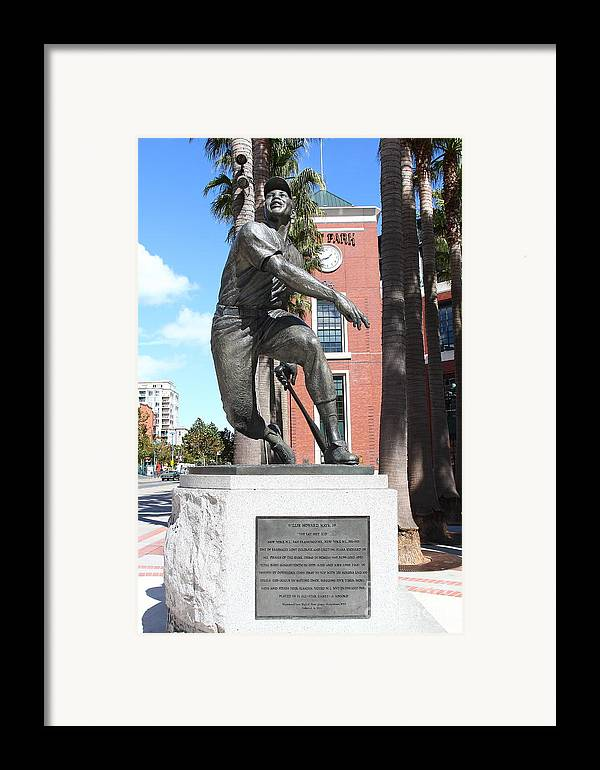San Francisco Framed Print featuring the photograph Willie Mays At San Francisco Giants Att Park . 7d7636 by Wingsdomain Art and Photography