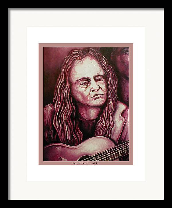 Framed Print featuring the digital art Willie The Print by Lloyd DeBerry