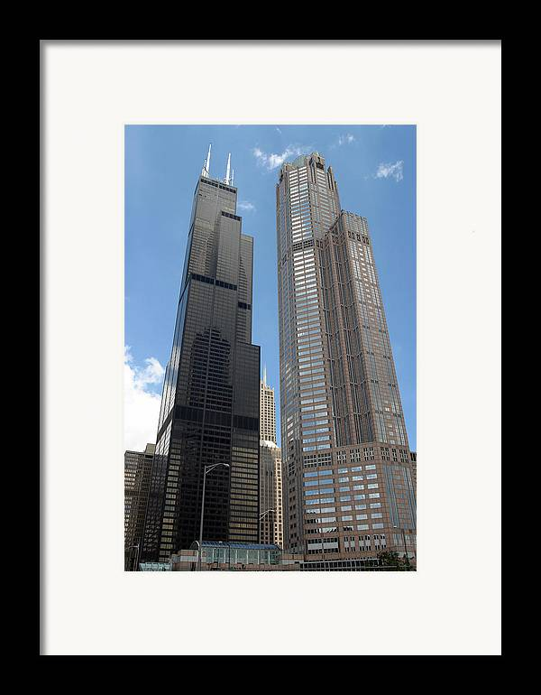 3scape Framed Print featuring the photograph Willis Tower Aka Sears Tower And 311 South Wacker Drive by Adam Romanowicz