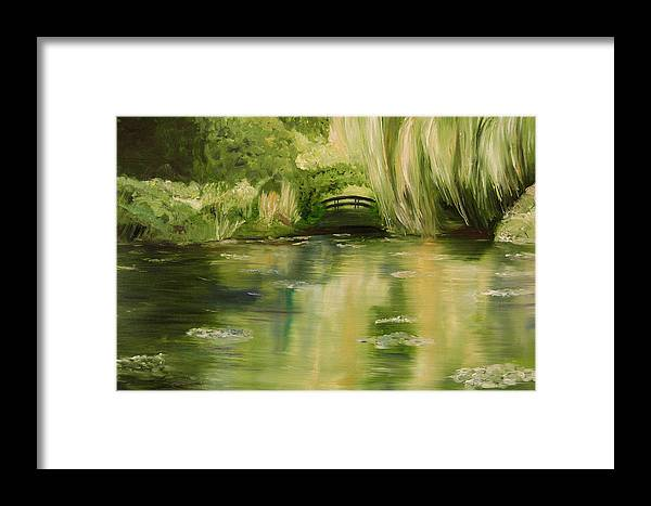 Konkol Framed Print featuring the painting Willow At Monet by Lisa Konkol