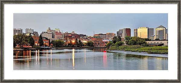 Wilmington Delaware at dusk by Brendan Reals