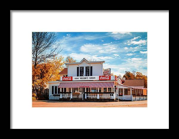 Architecture Framed Print featuring the photograph Wilsons by Chuck De La Rosa