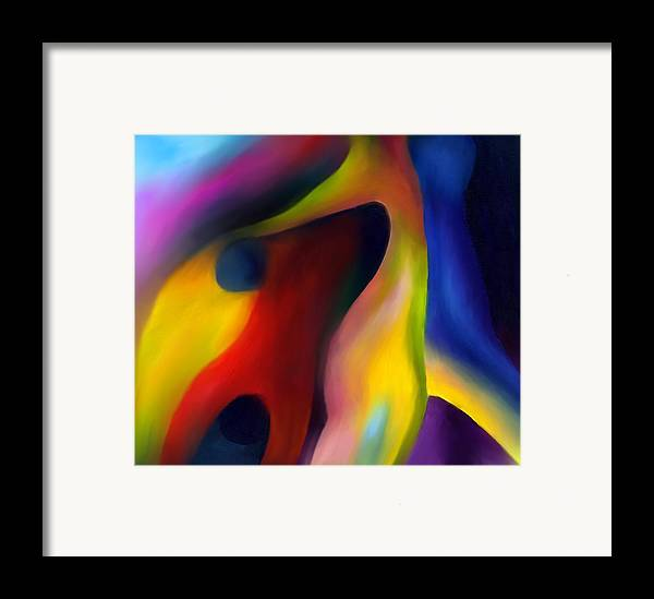 Abstract Framed Print featuring the painting Win Or Lose 2 by Peter Shor