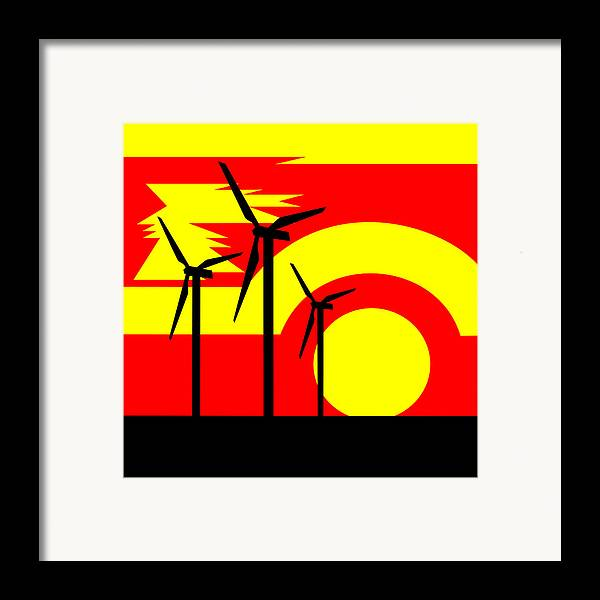 Framed Print featuring the painting Wind And Sun by Asbjorn Lonvig