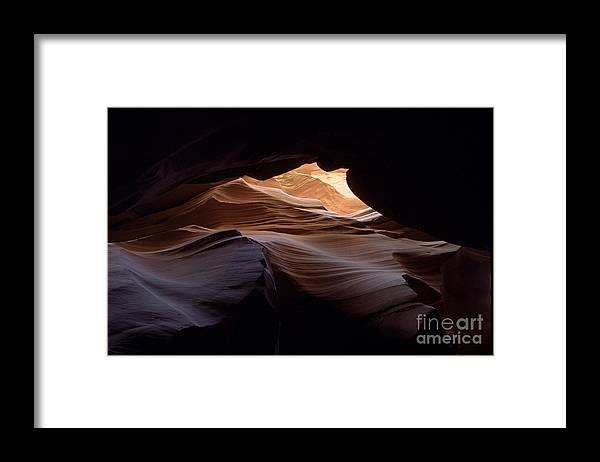 Antelope Canyon Framed Print featuring the photograph Wind And Water by Kathy McClure