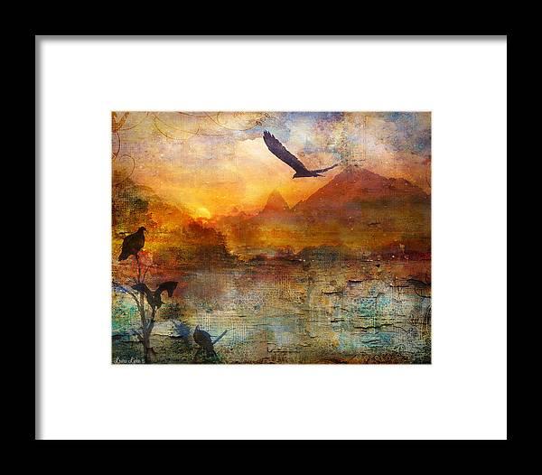 Landscape Framed Print featuring the digital art Wind Beneath My Wings by Laura Lipke