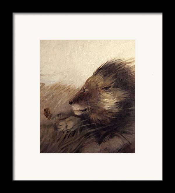 Animal Framed Print featuring the painting Wind by Patrick McClintock