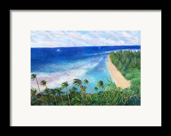 Rainbow Colors Pastel Framed Print featuring the painting Windblown by Kenneth Grzesik