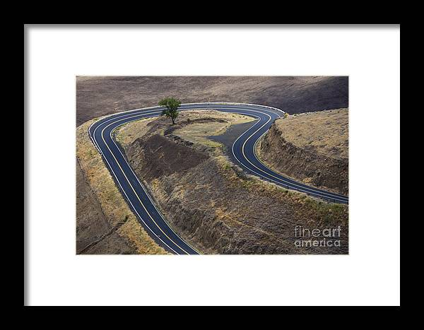 Road Framed Print featuring the photograph Winding Road by Idaho Scenic Images Linda Lantzy