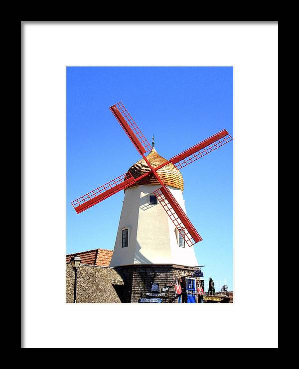 Windmill Framed Print featuring the photograph Windmill by Claudia Sanchez