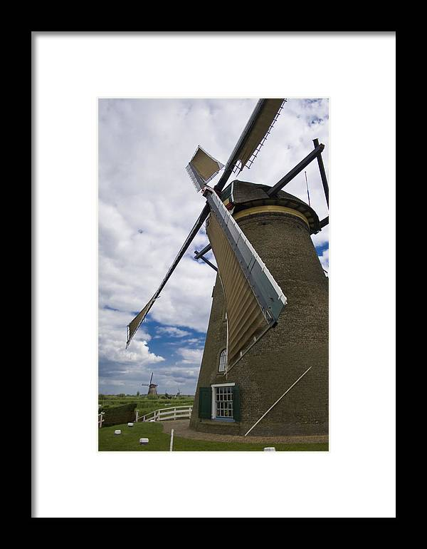 Windmill Framed Print featuring the photograph Windmill In Motion by Joshua Francia