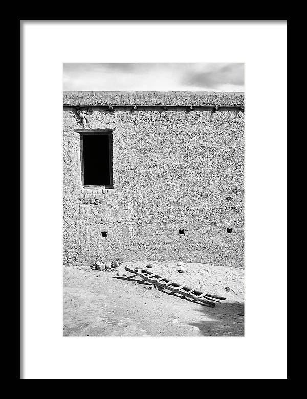 Window Framed Print featuring the photograph Window And Ladder, Shey, 2005 by Hitendra SINKAR