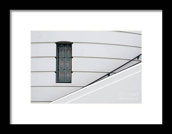 Window Framed Print featuring the photograph Window And Rail by Dan Holm