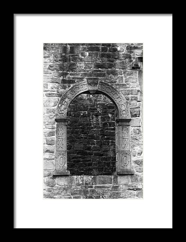 Irish Framed Print featuring the photograph Window at Donegal Castle Ireland by Teresa Mucha