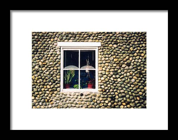Architecture Framed Print featuring the photograph Window In Nova Scotia by Robert Gladwin