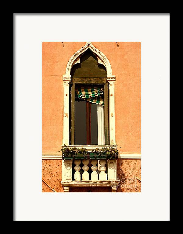 Venice Framed Print featuring the photograph Window In Venice by Michael Henderson