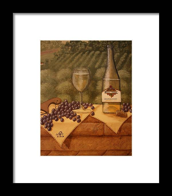 Grapes Framed Print featuring the painting Window Ledge by Sandra Poirier