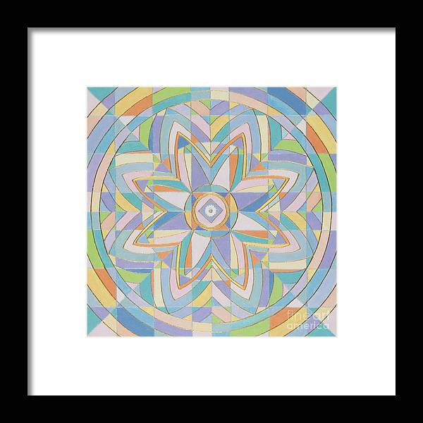 Mandala Framed Print featuring the painting Window Of The Ascended Masters by Charlotte Backman