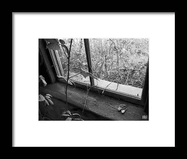 B/w Framed Print featuring the photograph Window Of The Past by Michele Caporaso