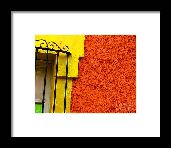 Michael Fitzpatrick Framed Print featuring the photograph Window Plus Green By Michael Fitzpatrick by Mexicolors Art Photography