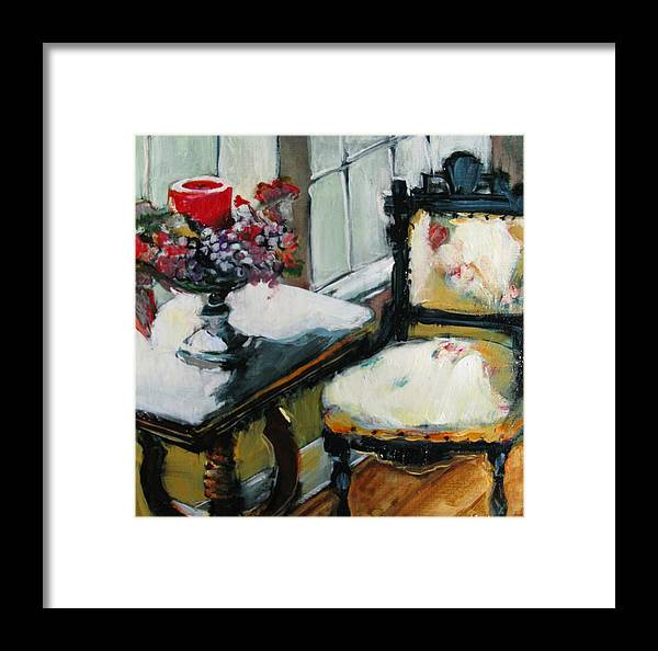 Interior Framed Print featuring the painting Window Seat by Michelle Winnie