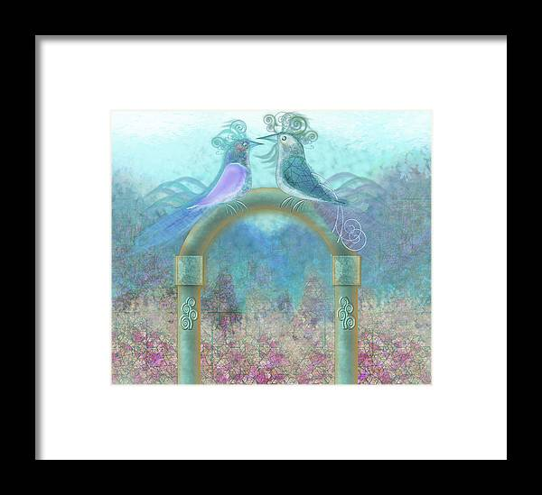 Valentine Day Framed Print featuring the digital art Window To Spring 4 by Ruth Ramos